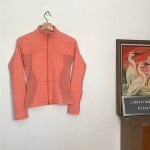 Lululemon Peach/Coral Mesh Panels Jacket Sz 6